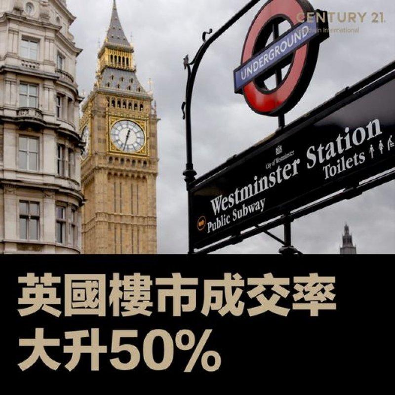 英國樓市交投活躍 成交率大升50%