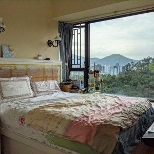 高層翠綠山景