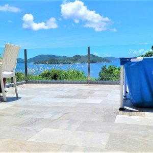 銀海山莊 海景花園平台, 2套房, 開放式廚, 靚裝, 共用泳池, 車位,